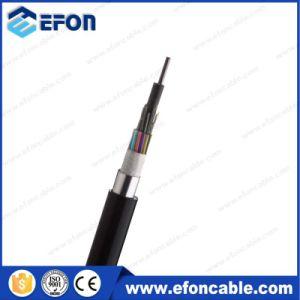 24/36/72/96 Core PE Jacket blindados de alumínio de cabo de fibra óptica (GYTA)