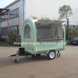 黒いピザホットドッグの移動式アイスクリームサラダヨーグルトのクレープの食糧トラック