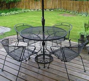 Cafe plegado exterior muebles de hierro (SI-1011)