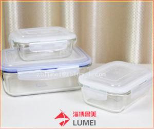 مستطيلة طعام [ستورج كنتينر] [بوروسليكت غلسّ] طعام تخزين وجبة حافظ وعاء صندوق مع يلوّن يقفل أغطية