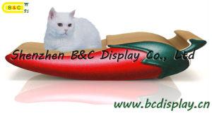 SGS (B&C-H003)を持つボードをスクラッチしている卸し売りボール紙猫