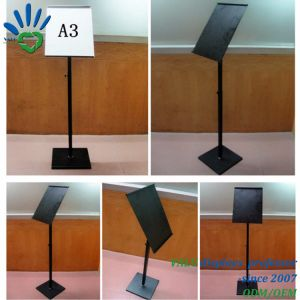 Cremagliere diritte del pavimento del metallo dei supporti della visualizzazione del segno del blocco per grafici del manifesto A3