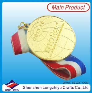 Le medaglie dell'OEM delle medaglie placcate oro della pressofusione con il nastro