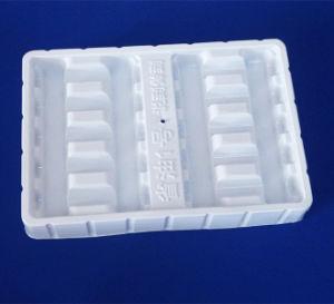 Het witte Dienblad van de Blaar van pvc voor Dienblad van de Verpakking van de Fles Medcine het Plastic voor Flessen