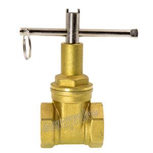 Tipo de luz de válvula de compuerta de latón forjado
