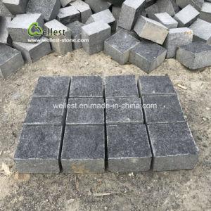 玉石、黒い玄武岩の立方体の石、黒い玄武岩のペーバーを舗装する黒い玄武岩の私道かテラス