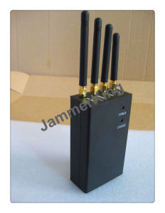 De mano de 20 metros de 4 bandas 3G 4G y WiFi, teléfono celular Jammer/Blocker; teléfono móvil portátil, la señal del GPS Jammer