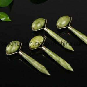 La belleza de la herramienta de Masaje Facial Natural Cara de rodillos de Jade masajeador delgado