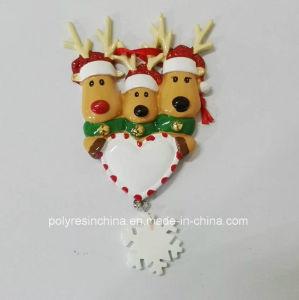 El marco de fotos Polyresin Ornamento de Navidad