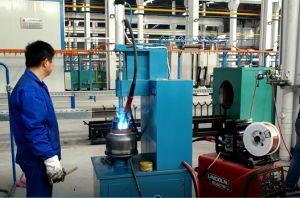 Bombona de gas de asiento de válvula soldadora automática