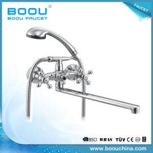 Boouの壁に取り付けられた洗浄亜鉛は浴室のコックを二重扱う