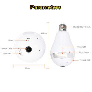 Lámpara de Wireless WiFi mini cámara IP CCTV