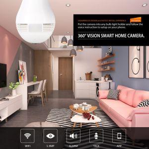 Birnen-Kamera WiFi 1080P HD 2MP IR Infrarotgrad panoramisches Fisheye der Nachtsicht-360 für inländisches Wertpapier CCTV-Kamera-Büro-Innenbaby-Raum