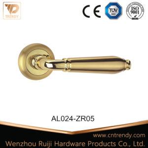 Tipo simple, barata de empuñadura de puerta de aluminio en Rose (AL024-ZR05).