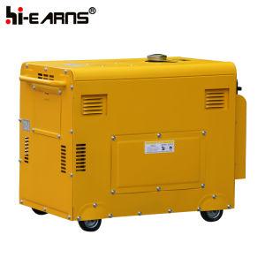 Luchtgekoelde Enige Diesel van de Cilinder Generator In drie stadia (DG6500SE met ATS)