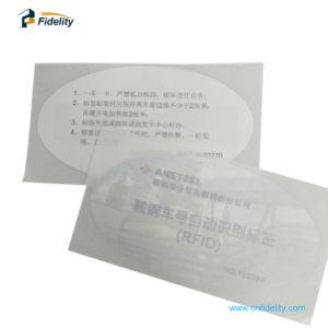 製造業者UHF RFIDの販売の車の風防ガラスのためのペーパーステッカーの札