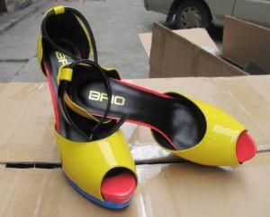 La mode haut talon Mesdames Peep Toe sandales