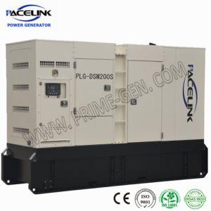 180kVA 세륨 ISO를 가진 Doosan에 의하여 강화되는 방음 디젤 엔진 발전기 세트