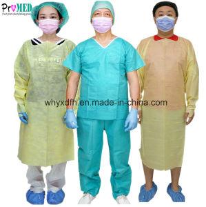 306df33d1 Cirugía del Hospital impermeable amarillo azul SMS PP NONWOVEN de  protección médica