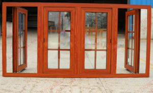 Woodgrain 지상 알루미늄 여닫이 창 Windows (BHA-CW54)