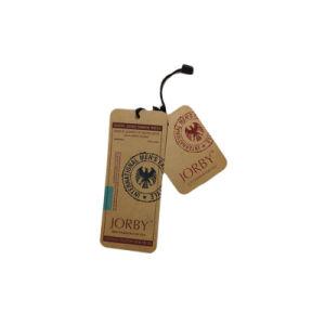 Papel Kraft marrón de prendas de vestir clásico Hang Tag