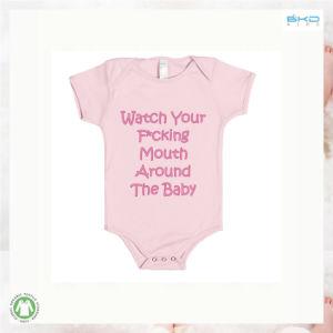 짧은 소매 작풍 아기는 아기 Onesie를 인쇄하는 스크린을 입는다