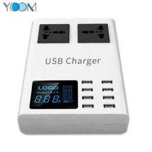 電話充電器のための交流電力のコードが付いているマルチ8つのUSBポート