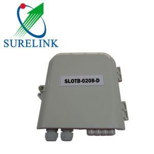Slotb-0208-D FTTH 8 отверстия для настенного монтажа оптоволоконный контакт распределительной коробки