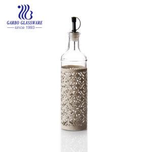 [230مل/400مل/500مل] يخلي [أيل بوتّل] زجاجيّة مع كم بلاستيكيّة زخرفيّة ([غب2505بد])