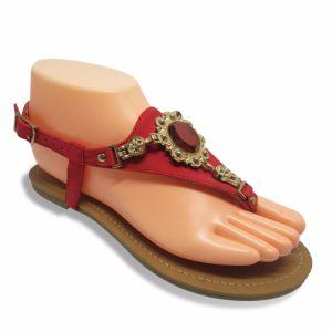 Мода женщин плоские сандалии с преднатяжителем плечевой лямки ремня