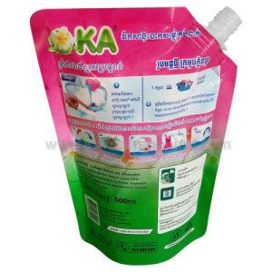 Plástico levantarse la bolsa del canalón con el líquido de lavado (500g)