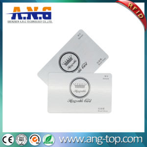Scheda d'argento del PVC della spazzola/scheda di lusso del biglietto da visita/VIP