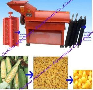 Le Maïs Le maïs Décortiqueur d'utilisation agricole et de la Batteuse Machine combinée