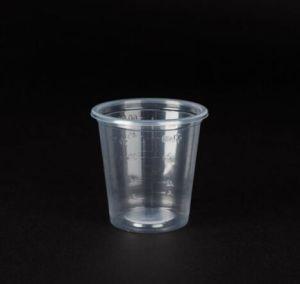 Copa de Médicos de plástico con medida tallar.