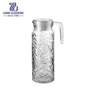 1L de haute qualité en verre blanc Pitcher couvercle blanc (GB1101SY)
