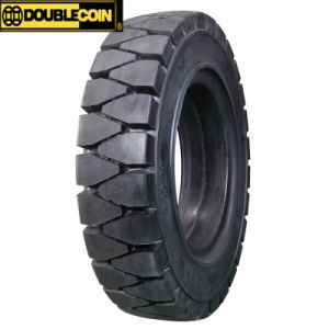 Double Coin Forklift Solid Tire with 3 Stage Design