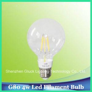 G80 4W LED Filament Bulb Clear Light (G80C4-3.5-E27)