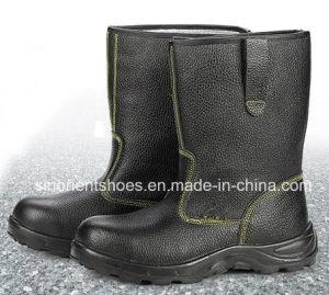 Haut de la cheville Split élégant en cuir des chaussures de sécurité Rh104