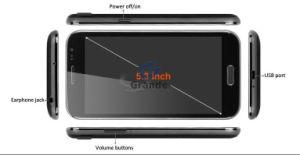 5.5  schermo capacitivo di RAM 1GB 4GB 8MP 1280X720 del Android 4.1.1 del telefono di Changjiang N7100 Mtk6577 di pollice
