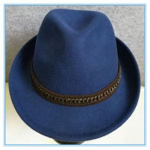 Lã de moda sentida Homem Trilby Tampa de lazer do Fedora