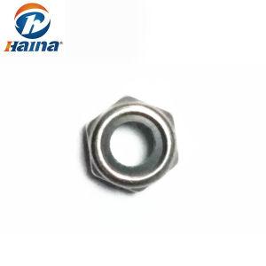 SS304 SS316 M10 DIN985 qui prévaut en acier inoxydable au couple les écrous hexagonaux de type mince avec insert non métalliques