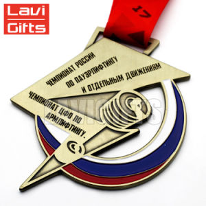 La promoción del deporte personalizada pintura imitación de la medalla de Esmalte Duro