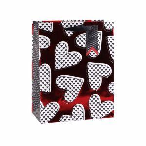 В День Святого Валентина сердце одежду настоящей косметики подарочные бумажные пакеты