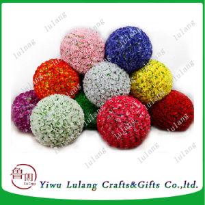 Bola de flor rosa Artificial artesanal para decoración de bodas, rosa Ball