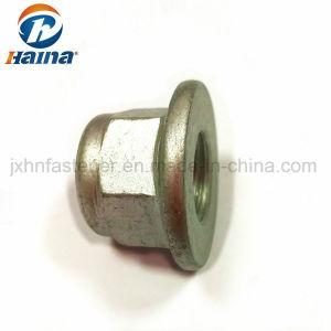 L'acier au carbone galvanisé autobloquant/Dacromet prévalant Couple type DIN6926/DIN6923 écrou en nylon à embase