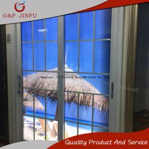 Metallprofil-Doppelt-Glasinnenaußenschiebende Panel-Aluminiumtür