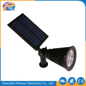 IP65は白い屋外の芝生LEDの点の太陽ライトを暖める