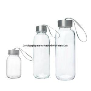 Stock 300ml 420ml 500ml Sport Garrafas de água de vidro