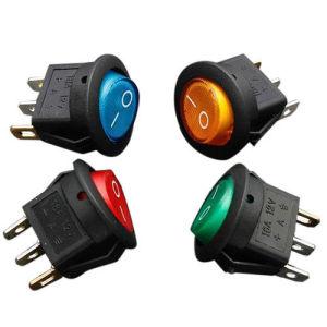 indicatore luminoso di precipitare leva on-off illuminato LED dell'interruttore di Spst dell'attuatore 12V