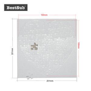 Imprimés promotionnels Bestsub Sublimation coeur Puzzle avec bord externe (ATP8N)